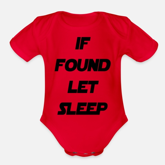 Showtek Baby Clothing - sleep - Organic Short-Sleeved Baby Bodysuit red