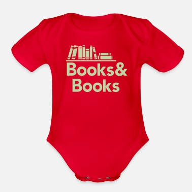 Book Books and books - Organic Short Sleeve Baby Bodysuit