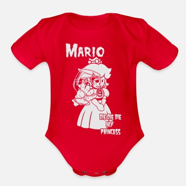 Mario Mario My Princess - Organic Short-Sleeved Baby Bodysuit