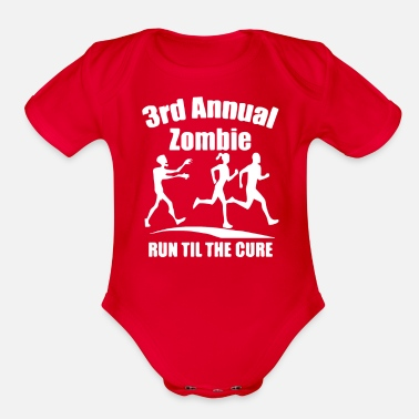 Annual Party 3rd Annual Zombie Run Til The Cure - Organic Short-Sleeved Baby Bodysuit