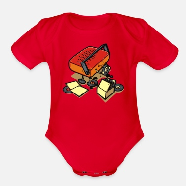 Record Champion Record Eater - Organic Short-Sleeved Baby Bodysuit