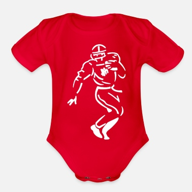 Undefeated Undefeated Stencil Football - Organic Short Sleeve Baby Bodysuit