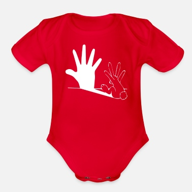 Shadow Puppet Shadow Puppet Rabbit - Organic Short-Sleeved Baby Bodysuit
