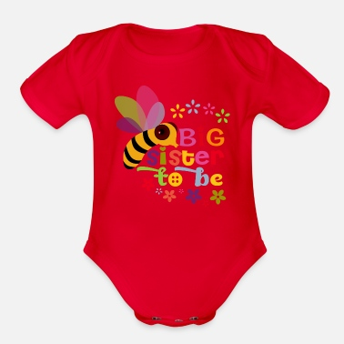 Big Sister Big Sister to be - Organic Short-Sleeved Baby Bodysuit
