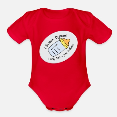 Milk Milk Drunk - Organic Short Sleeve Baby Bodysuit