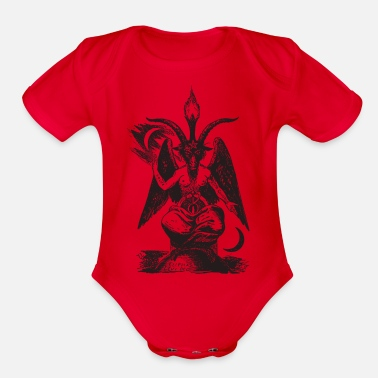 Devil Male devil - Organic Short Sleeve Baby Bodysuit