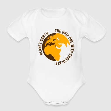 Planet Earth Chocolate - Short Sleeve Baby Bodysuit