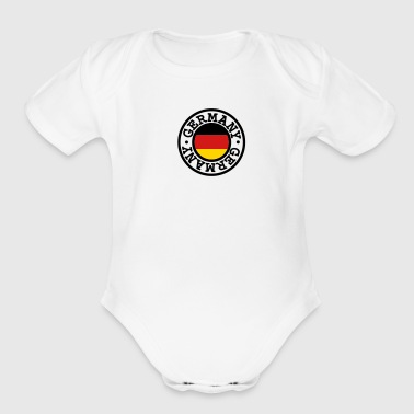 Germany flag - Organic Short Sleeve Baby Bodysuit