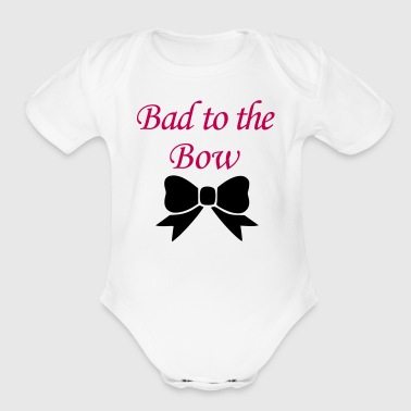 Bad to the Bow 2 - Organic Short Sleeve Baby Bodysuit