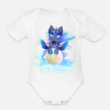 Anime animal - Organic Short-Sleeved Baby Bodysuit