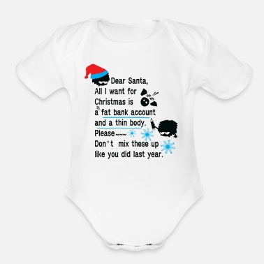 Funny New Year Resolution Funny new year resolutions - Organic Short-Sleeved Baby Bodysuit