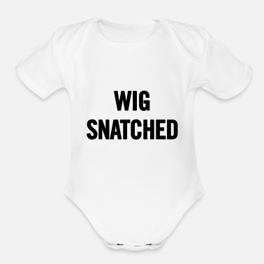 Snatch Wig Snatched Black - Organic Short Sleeve Baby Bodysuit