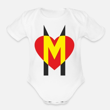 Motherly Love A strong sign of motherly love - Organic Short-Sleeved Baby Bodysuit