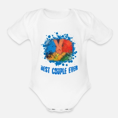 The best couple ever - Organic Short Sleeve Baby Bodysuit