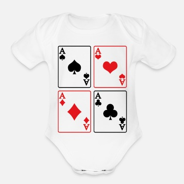 Rummy Ace Cards Game Rummy Skat Casino Present - Organic Short-Sleeved Baby Bodysuit