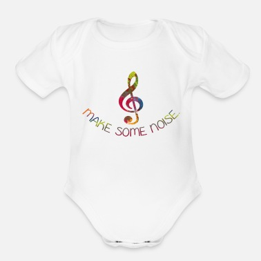 Dj Make Some Noise - Organic Short-Sleeved Baby Bodysuit