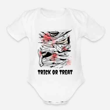Treat Trick or Treat - Organic Short-Sleeved Baby Bodysuit
