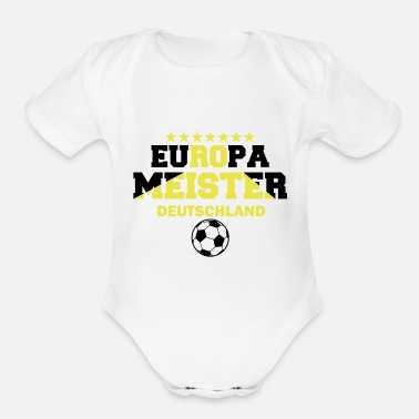 European Champion EUROPEAN CHAMPION GERMANY - Organic Short-Sleeved Baby Bodysuit