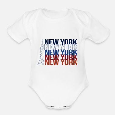 York new york, new york, new york - Organic Short-Sleeved Baby Bodysuit