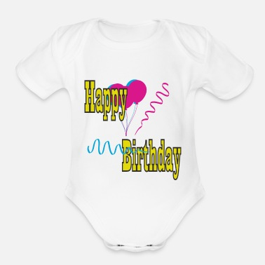 B Day B-day - Organic Short-Sleeved Baby Bodysuit