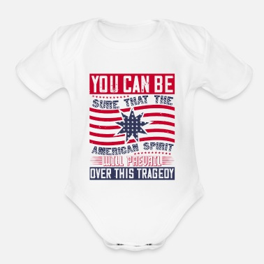 Police Patriot Day American Spirit Will Prevail - Organic Short-Sleeved Baby Bodysuit