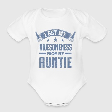 Awesomeness From My Aunt - Short Sleeve Baby Bodysuit
