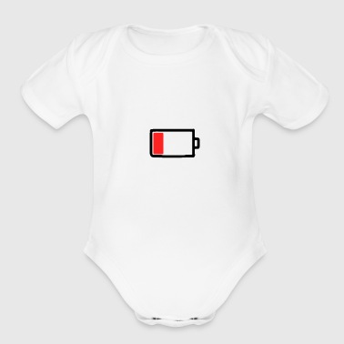Mobile phone battery empty - Organic Short Sleeve Baby Bodysuit
