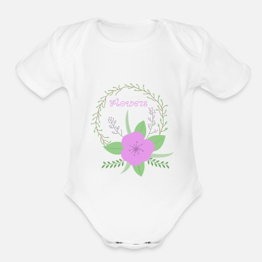 Flower Flower Flowers - Organic Short-Sleeved Baby Bodysuit
