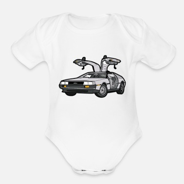 Future DeLorean 12 Back to the Future Oldtimer Car - Organic Short-Sleeved Baby Bodysuit