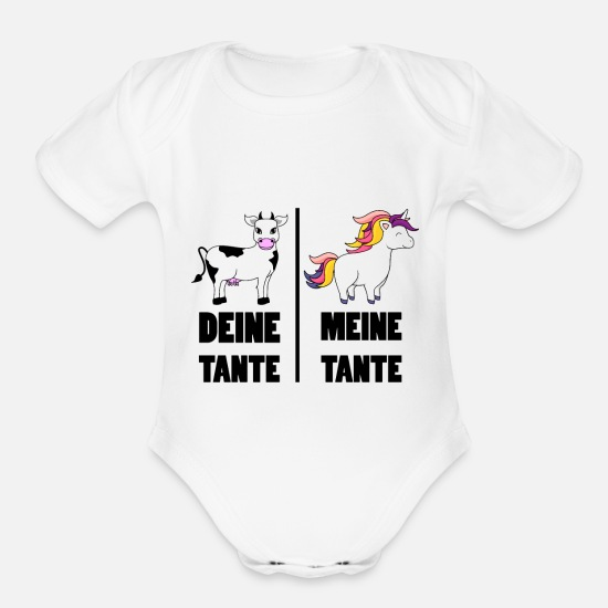 Your Aunt My Aunt Horse Unicorn Baby Bodysuit Funny Family Auntie Humour Gift