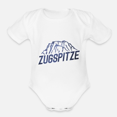Highest Peak The Zugspitze - Organic Short-Sleeved Baby Bodysuit