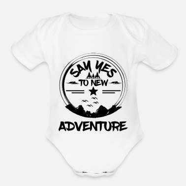 Mountains Mountain Mountain Mountaineering Hiking Gift - Organic Short-Sleeved Baby Bodysuit