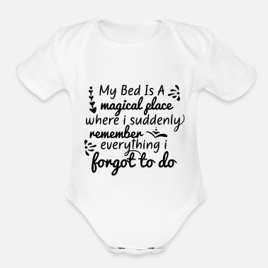 Bed Bed is a - Organic Short-Sleeved Baby Bodysuit