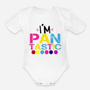 Style I m Pantastic T Shirt color Tee Pansexual Shirt - Organic Short-Sleeved Baby Bodysuit