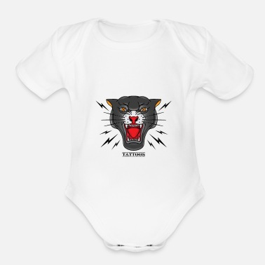 Title title fight - Organic Short-Sleeved Baby Bodysuit