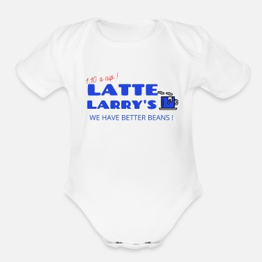 Latte LATTE LARRYS - Latte Larry s - Organic Short-Sleeved Baby Bodysuit