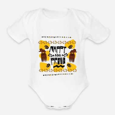 Nappy nappy and proud - Organic Short-Sleeved Baby Bodysuit