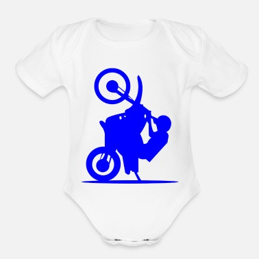 Attractive motorcycle attraction - Organic Short-Sleeved Baby Bodysuit