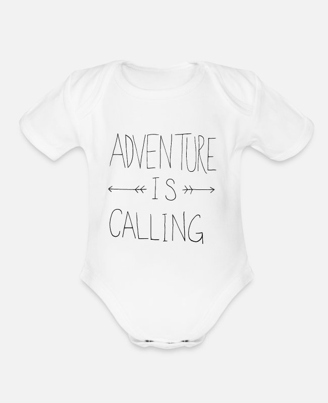Wanderlust Baby One Pieces - adventure - Organic Short-Sleeved Baby Bodysuit white