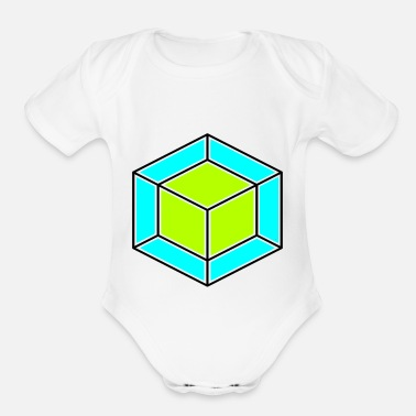 Dice dice - Organic Short-Sleeved Baby Bodysuit