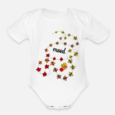Mood mood - Organic Short-Sleeved Baby Bodysuit