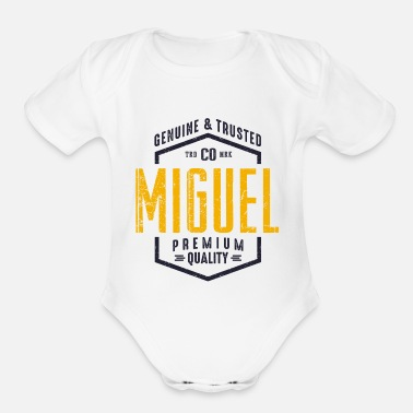 Miguel MIGUEL - Organic Short-Sleeved Baby Bodysuit