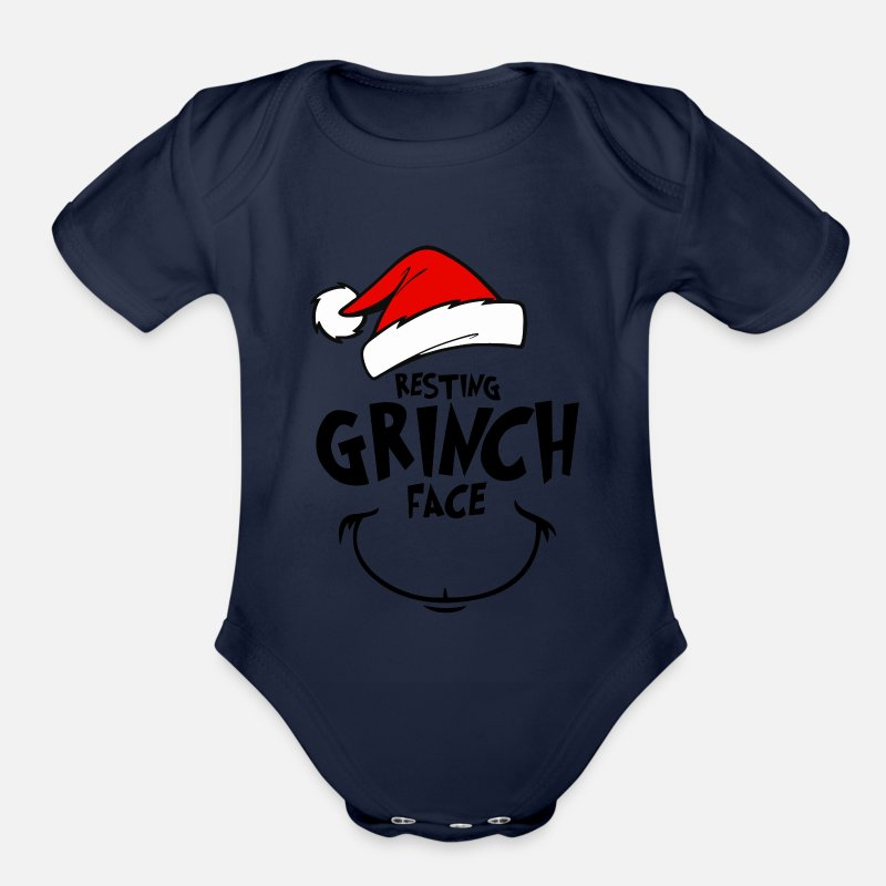 8fb62385b Resting Grinch Face - gift idea Organic Short-Sleeved Baby Bodysuit |  Spreadshirt