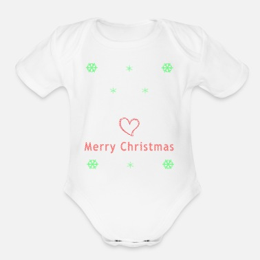 Ugly Ugly Christmas Unicorn Christmas Sweater - Organic Short-Sleeved Baby Bodysuit