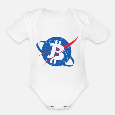 Nasa Bitcoin NASA - Organic Short-Sleeved Baby Bodysuit