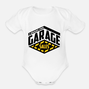 Sale I Brake for Garage Sales | Garage Sales - Organic Short Sleeve Baby Bodysuit