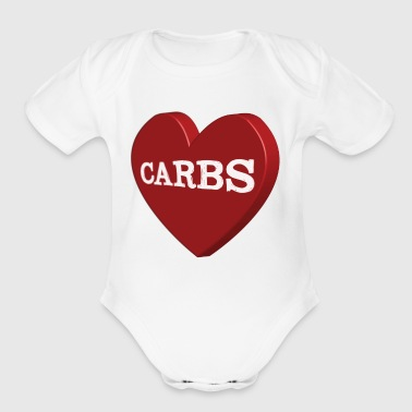 Carbs - Organic Short Sleeve Baby Bodysuit