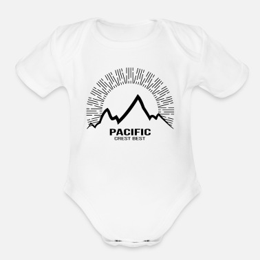 Bug Pacific Hiking lover TShirt Bday Gift - Organic Short Sleeve Baby Bodysuit