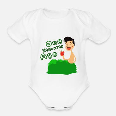 Adam And Eve One eternity ago adam and eve apple - Organic Short-Sleeved Baby Bodysuit