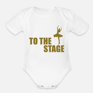 Stage to the stage - Organic Short Sleeve Baby Bodysuit